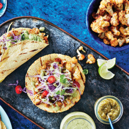 Chipotle Cauliflower Tacos with Jalapeño Cilantro Sauce Recipe