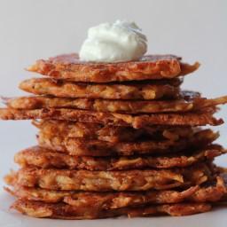 Chipotle Cheddar Potato Latkes