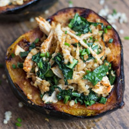 Chipotle Chicken and Quinoa Stuffed Acorn Squash (+ giveaway)