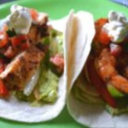 Chipotle Chicken and Shrimp Fajitas