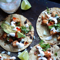 Chipotle Chicken Tacos with Garlic Lime Crema