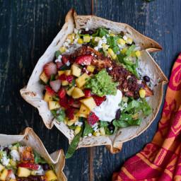 Chipotle Mahi Mahi Burrito Bowls with Coconut Cilantro Lime Rice + Spicy St