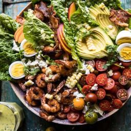 Chipotle Shrimp Cobb Salad with Jalapeño Corn Vinaigrette