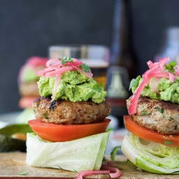 Chipotle Turkey Burger with Guacamole
