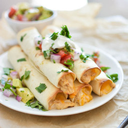 Chipotle Cheese Slow Cooker Chicken Taquitos