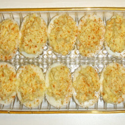 Chips and Dip Deviled Eggs