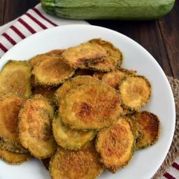 Chips de calabacita con parmesano