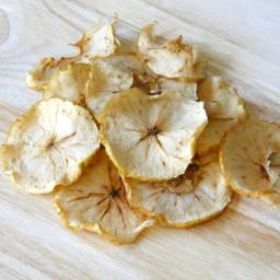 Chips de manzana saludables sin azúcar