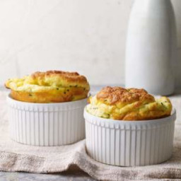 Chive and Goat Cheese Souffles