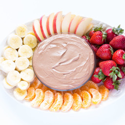 Chocolate Almond Butter Fruit Dip