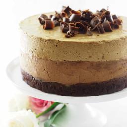 Chocolate Amaretto-Espresso Mouse Cake