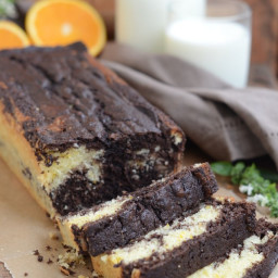 Chocolate and Orange Marble Loaf Cake