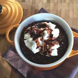 Chocolate baked oatmeal breakfast (low FODMAP)