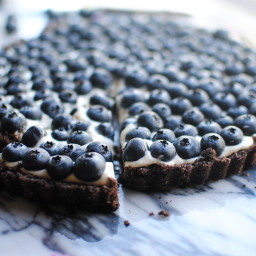 Chocolate Blueberry Tart with Lemon Zest