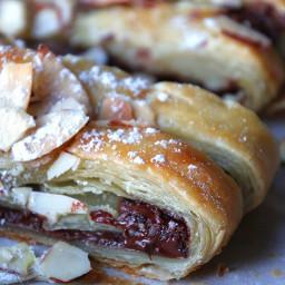 Chocolate Braid Puff Pastry Dessert