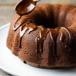 Chocolate Bundt Cake with Semisweet Chocolate Ganache