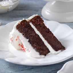 Chocolate-Candy Cane Cake