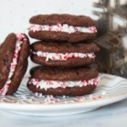 Chocolate Candy Cane Sandwich Cookies [Grain-Free, Dairy-Free]