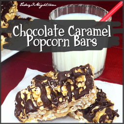 Chocolate Caramel Popcorn Bars