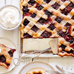 Chocolate-Cherry Lattice Slab Pie