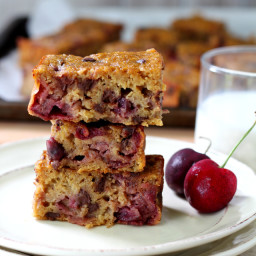 Chocolate Chip Cherry Banana Blondies