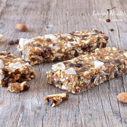 Chocolate Chip Cookie Dough Granola Bars (paleo, gluten, grain free)