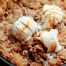 Chocolate Chip Cookie Skillet with Butterscotch Chips