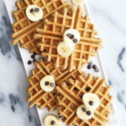 Chocolate Chip Flaxseed Waffles (grain-free and refined sugar-free)