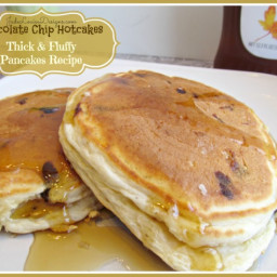Chocolate Chip Hotcakes Recipe, Best Thick and Fluffy Pancakes