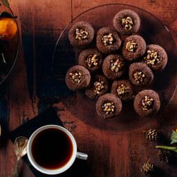 Chocolate, Cinnamon, and Hazelnut Thumbprints