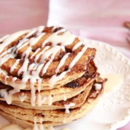 Chocolate Cinnamon Roll Pancakes