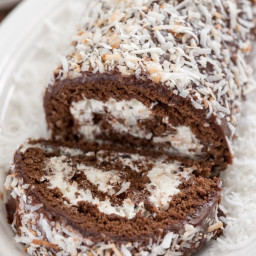 Chocolate Coconut Cake Roll