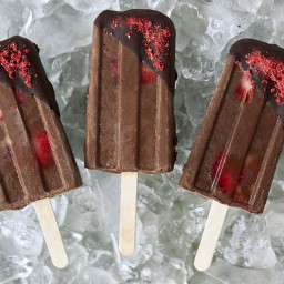 Chocolate Covered Strawberry Fudgesicles