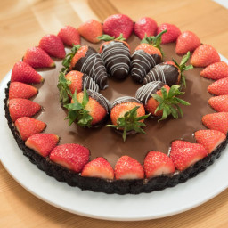 Chocolate-Covered Strawberry Tart