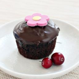 Chocolate Cranberry Cupcakes 巧克力蔓越莓小蛋糕