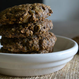 Chocolate, Ginger & Orange Oat Cookies