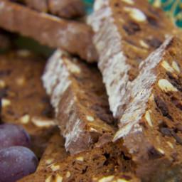 Chocolate, Hazelnut and Fig Biscotti