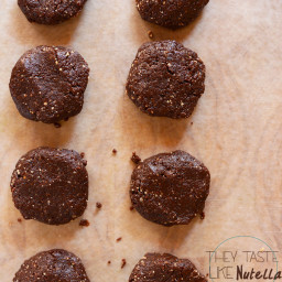 Chocolate Hazelnut No Bake Cookies