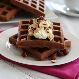 Chocolate Hazelnut Protein Waffles – Low Carb and Gluten-Free