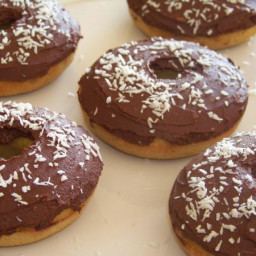 Chocolate Iced Coconut Donuts – Gluten Free