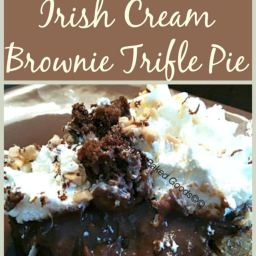 Chocolate Irish Cream Brownie Trifle Pie