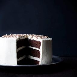 Chocolate Malt Layer Cake