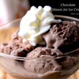 Chocolate Mason Jar Ice Cream