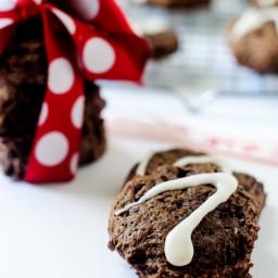 Chocolate Mint Quinoa Cookies