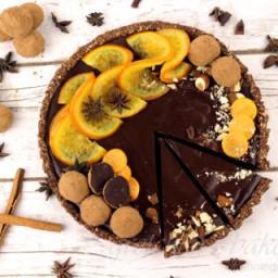Chocolate Orange Truffle Tart