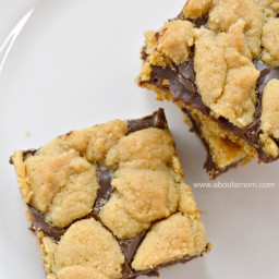 Chocolate-Peanut Butter Cake Mix Cookie Bars