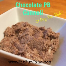 Chocolate Peanut Butter Cannoli