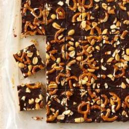 Chocolate-Peanut Butter Crunch Bars Recipe