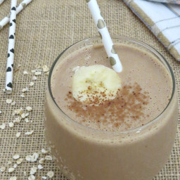 Chocolate Peanut Butter Oatmeal Smoothie Recipe
