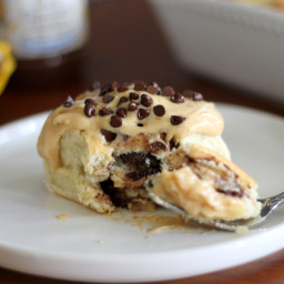Chocolate Peanut Butter Sweet Rolls
